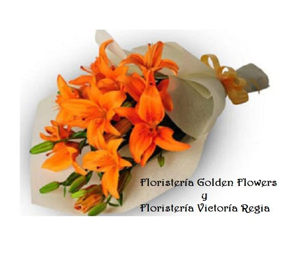 orange-lillies-bouquet